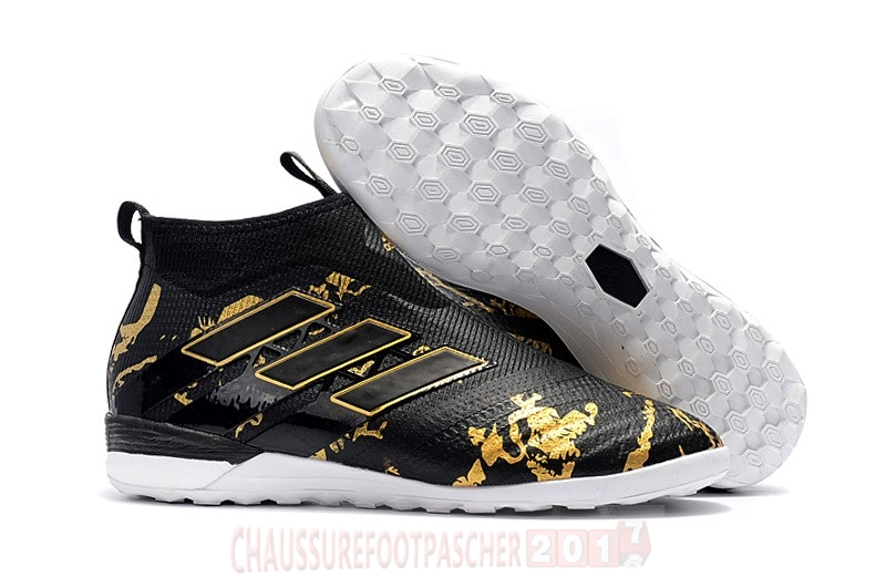 Adidas Chaussure De Foot Ace Tango 17+ Purecontrol TF Noir Or Leopard