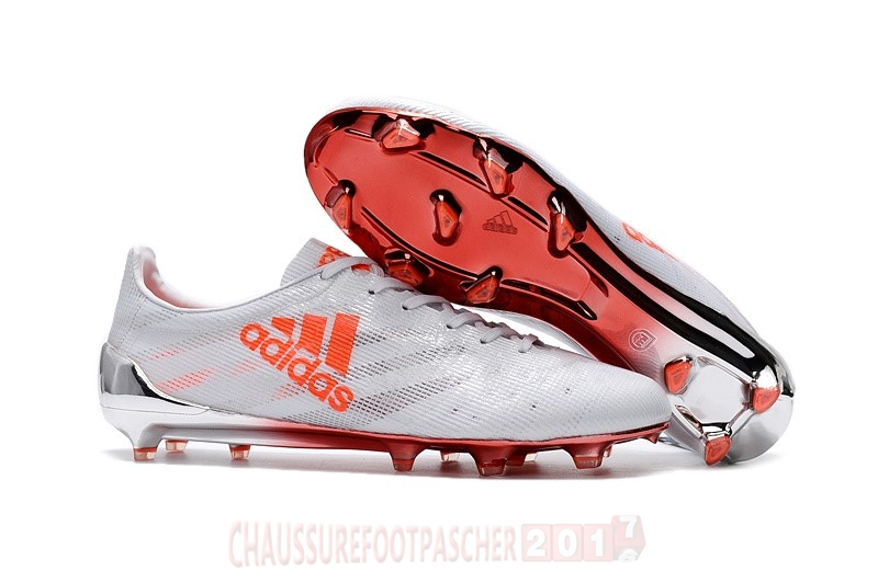 Adidas Chaussure De Foot Adizero 99Gram Limited Edition FG Blanc Orange