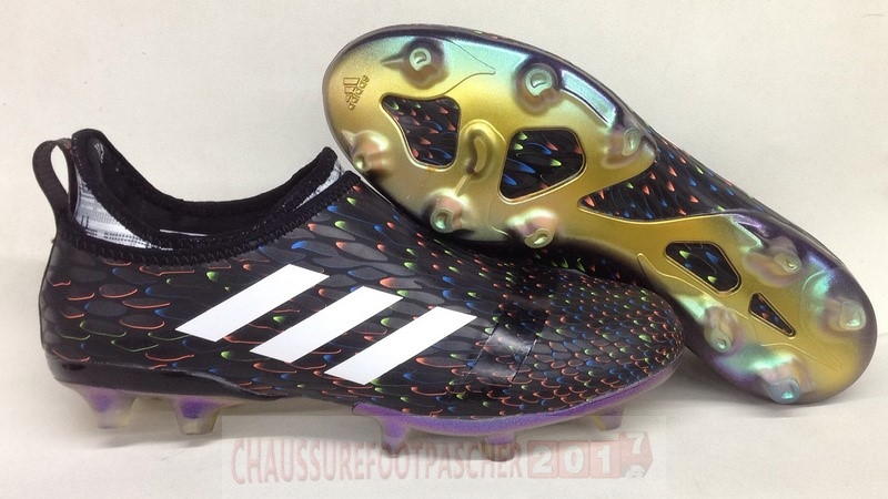 new styles 5636b bf735 Adidas Chaussure De Foot Glitch Skin 17 FG Multicolore Noir