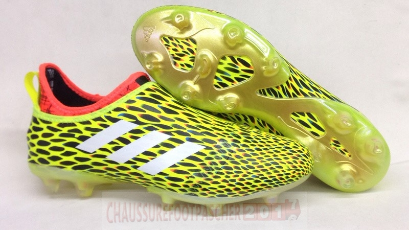 Adidas Chaussure De Foot Glitch Skin 17 FG Orange Jaune