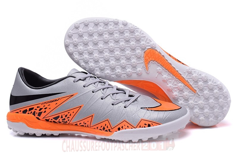 Nike Chaussure De Foot Hypervenom II TF Gris Orange