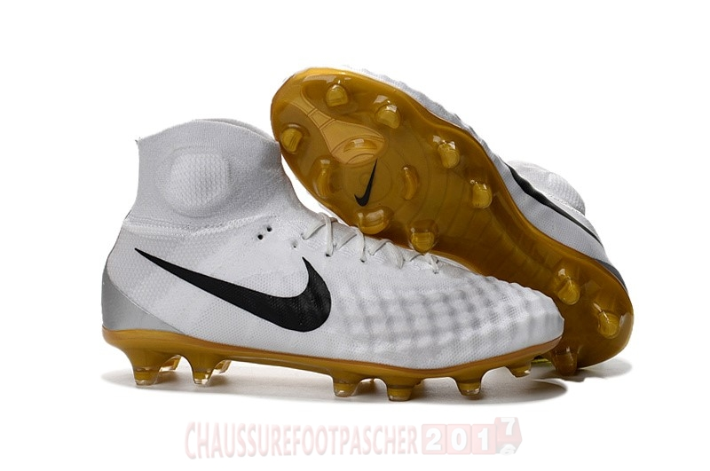 competitive price 67093 f1d01 Nike Chaussure De Foot Magista obra II FG Blanc Noir
