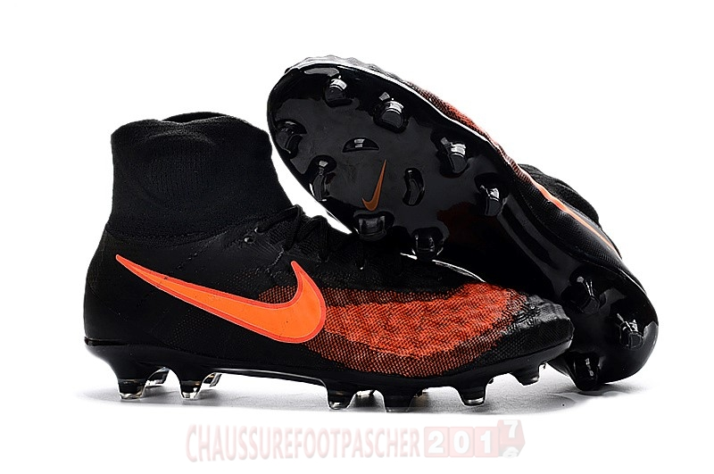 Nike Chaussure De Foot Magista obra II FG Orange Noir