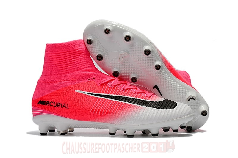 Nike Chaussure De Foot Mercurial Superfly V AG Blanc Rose