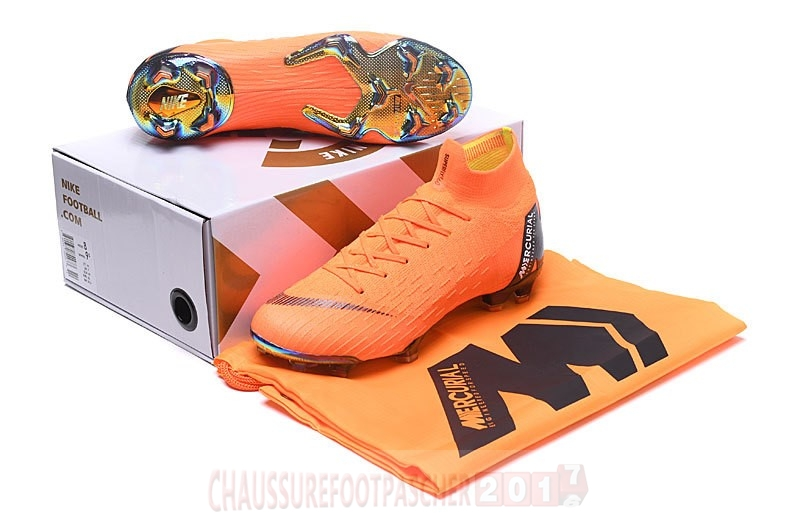 Nike Chaussure De Foot Mercurial Superfly VI Elite Enfants FG Orange