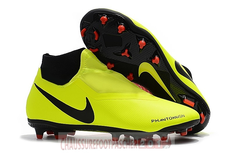 Nike Chaussure De Foot Phantom Vision Elite DF FG Jaune