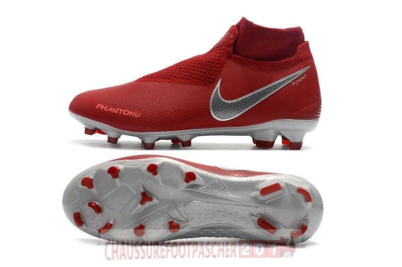 Nike Chaussure De Foot Phantom Vision Elite FG Rouge