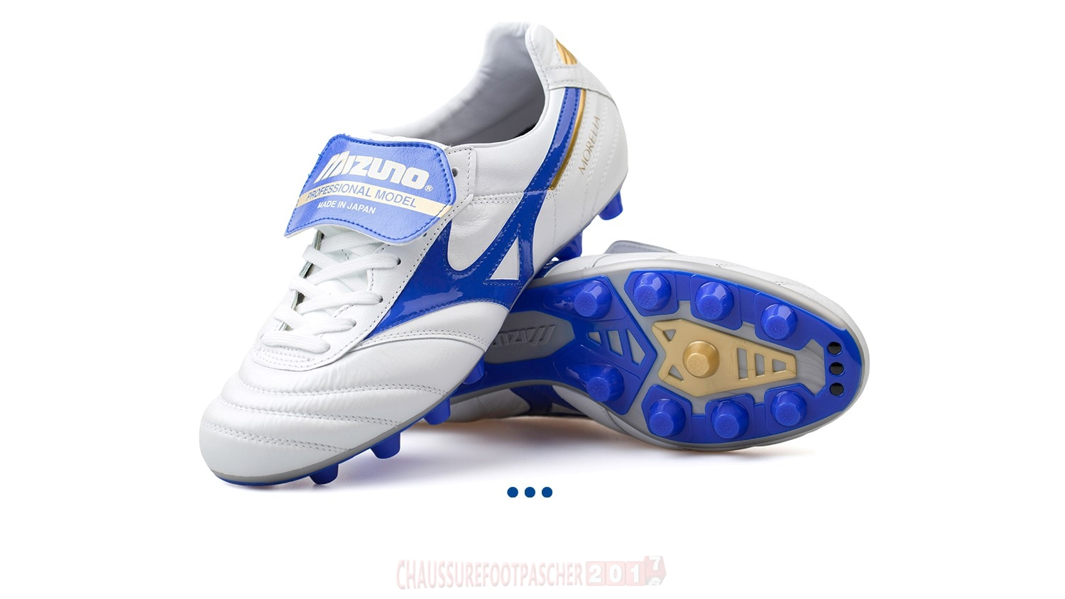 "Mizuno Chaussure De Foot Morelia II JAPAN ""Legend Blue"" MD Blanc"