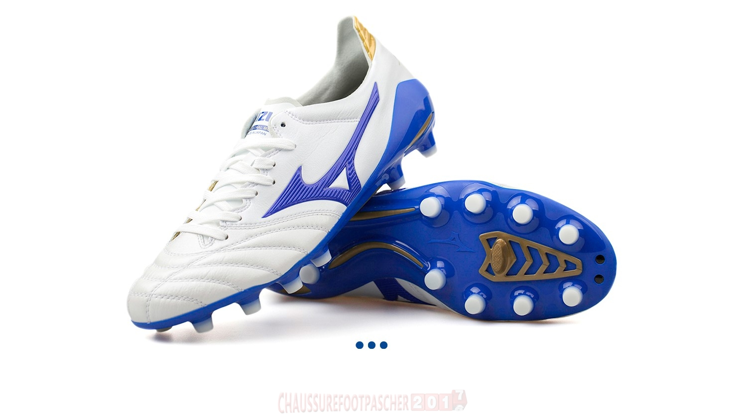 "Mizuno Chaussure De Foot Morelia Neo II JAPAN ""Legend Blue"" MD Blanc"