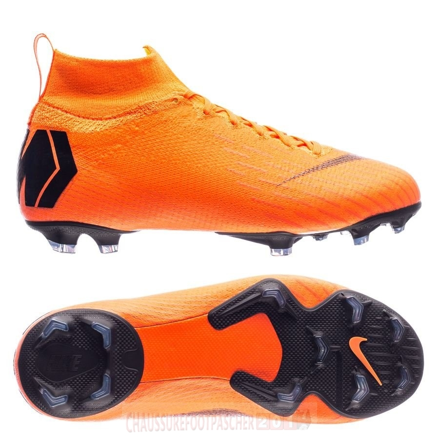 Nike Chaussure De Foot Mercurial Superfly 6 Elite Enfants FG Orange