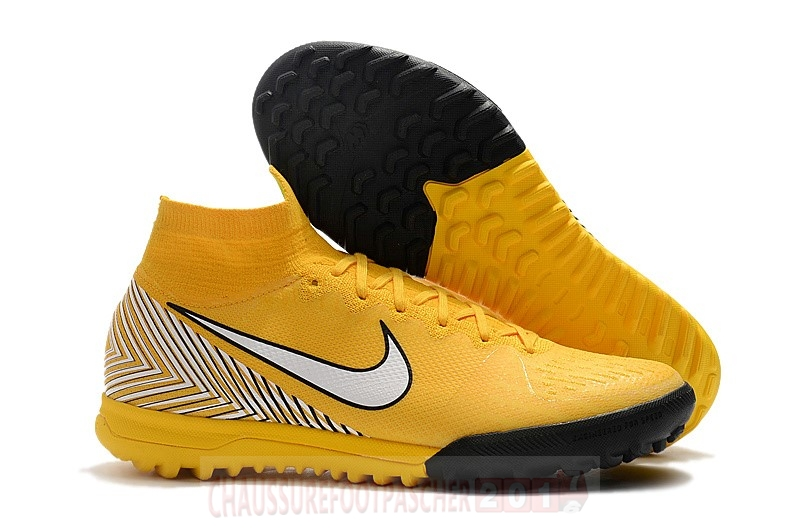 Nike Chaussure De Foot Mercurial Superfly VI 360 Elite Neymar TF Jaune