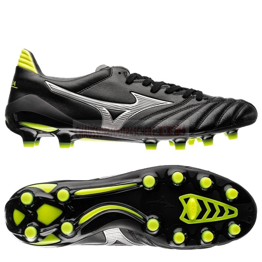 Mizuno Chaussure De Foot Morelia Neo II Made in Japan FG Black Star Noir Jaune