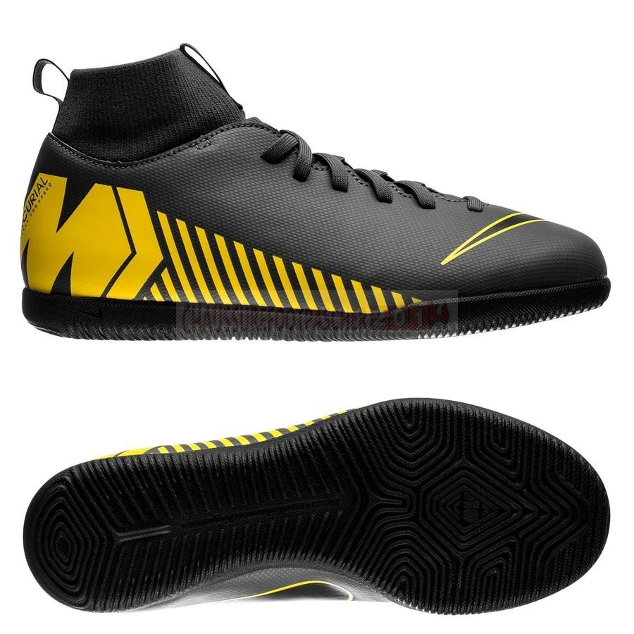 Nike Chaussure De Foot Mercurial Superfly 6 Club Enfants IC Game Over Noir Jaune