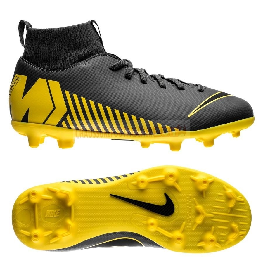 Nike Chaussure De Foot Mercurial Superfly 6 Club Enfants MG Game Over Gris Jaune
