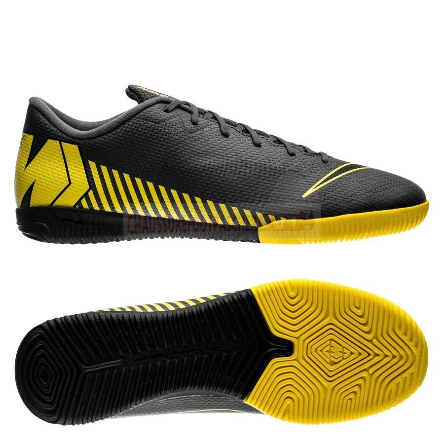 Nike Chaussure De Foot Mercurial Vapor XII Academy IC Game Over Noir Jaune