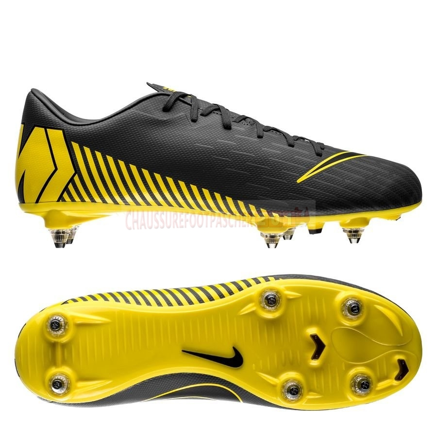 Nike Chaussure De Foot Mercurial Vapor XII Academy SG PRO Game Over Gris Jaune