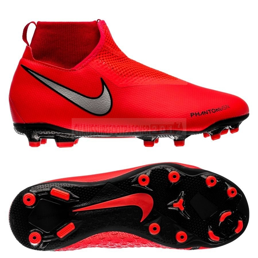 Nike Chaussure De Foot Phantom Vision Academy DF Enfants MG Game Over Rouge