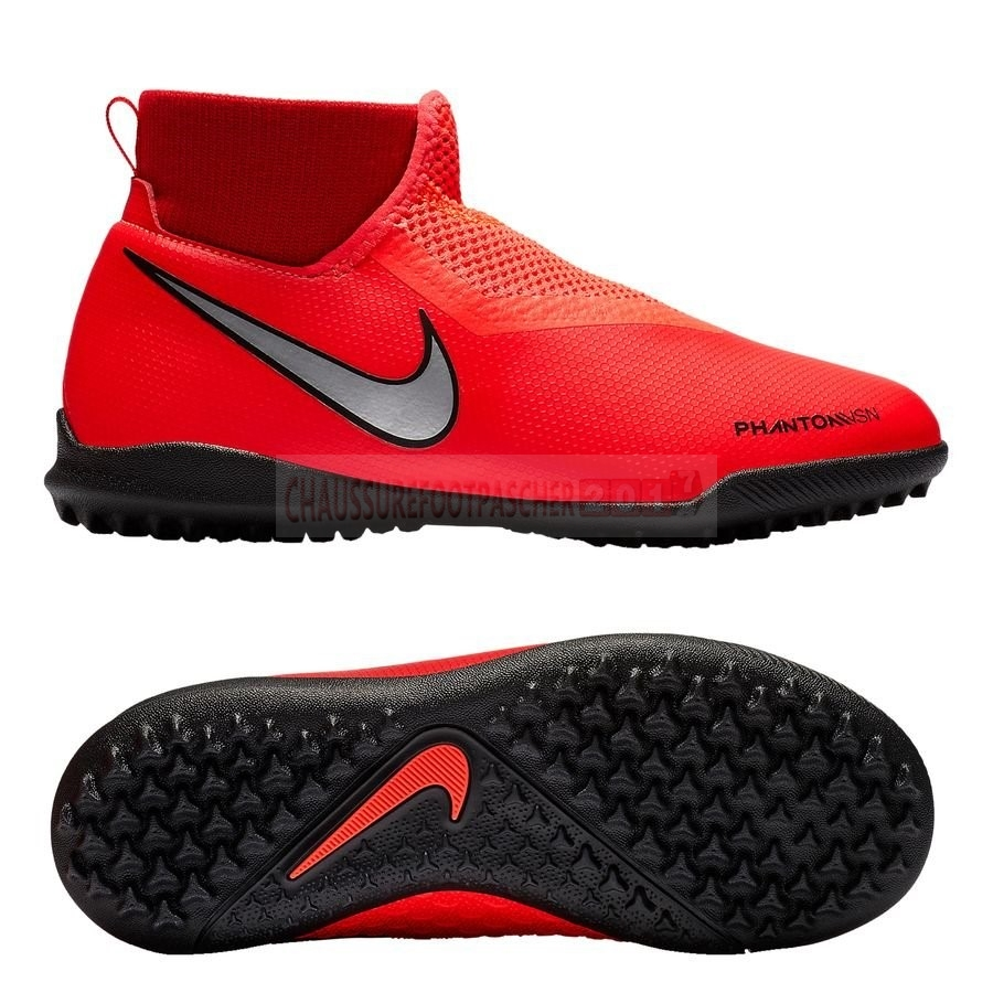Nike Chaussure De Foot Phantom Vision Academy DF Enfants TF Game Over Rouge
