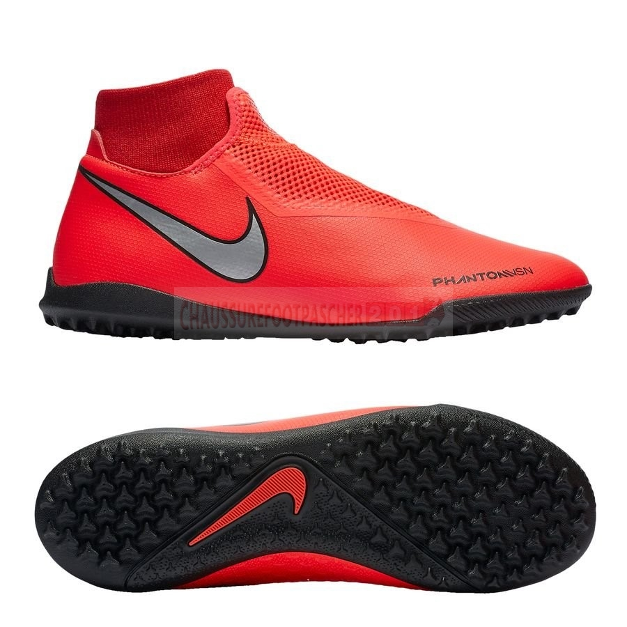 Nike Chaussure De Foot Phantom Vision Academy DF TF Game Over Rouge