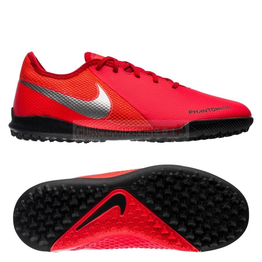 Nike Chaussure De Foot Phantom Vision Academy Enfants TF Game Over Rouge Noir