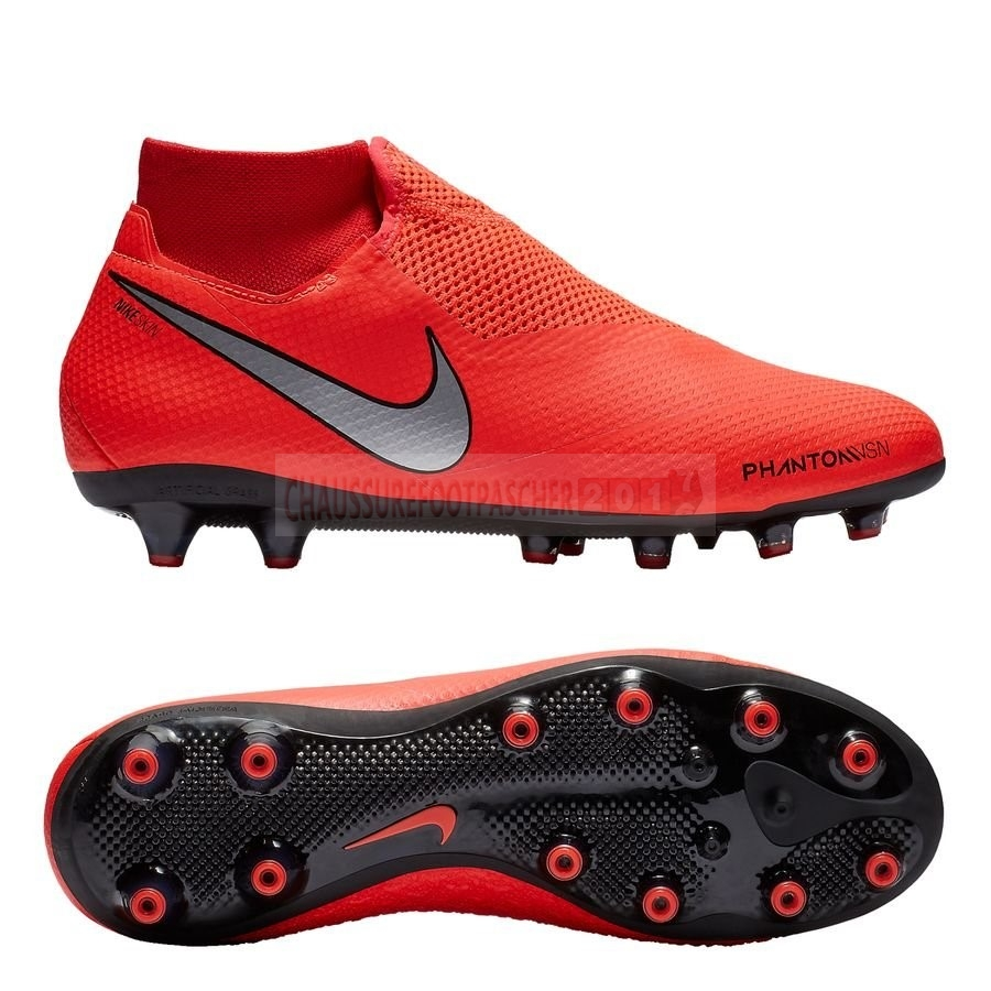Nike Chaussure De Foot Phantom Vision Pro DF AG PRO Game Ove Rouge