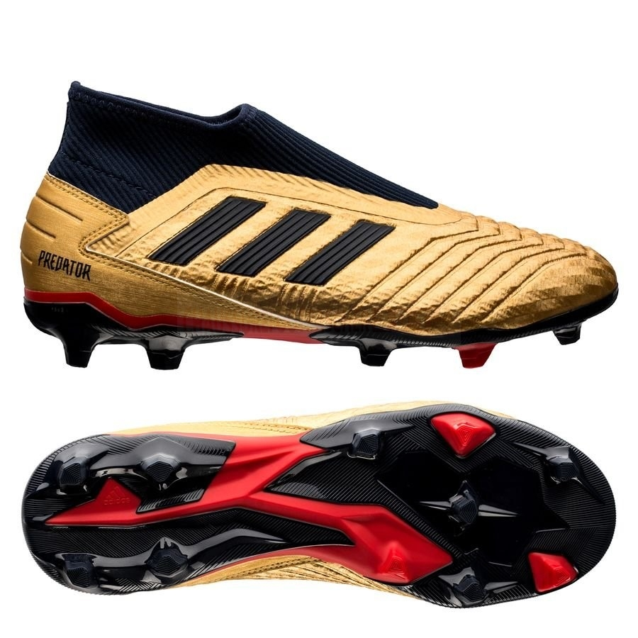 Adidas Chaussure De Foot Predator 19.3 Laceless ZZ&DB Icon FG/AG Or