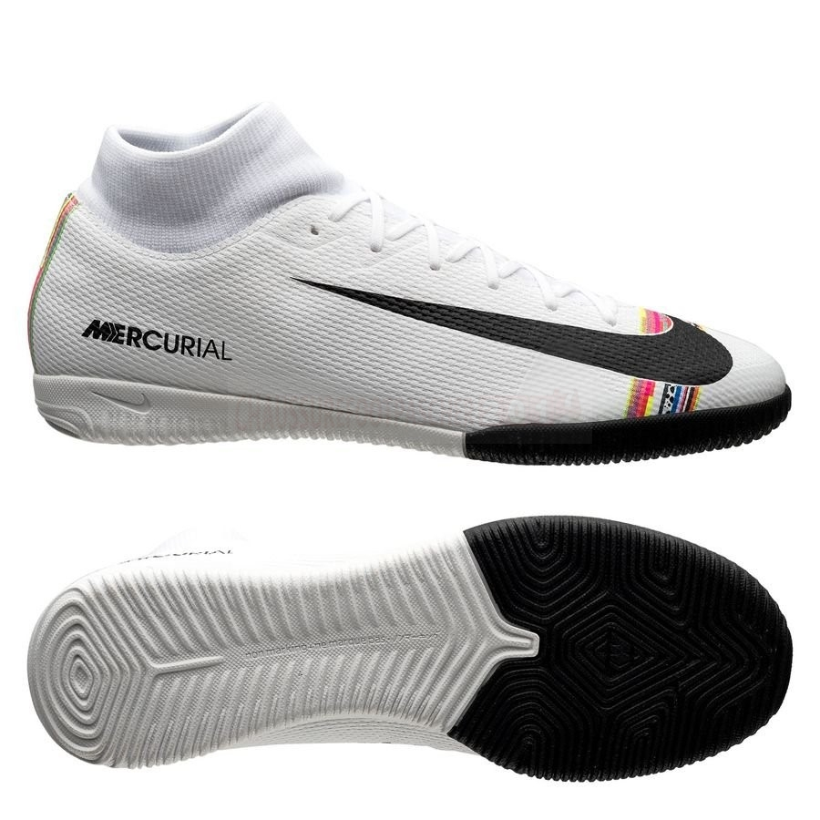Nike Chaussure De Foot Mercurial Superfly 6 Academy IC LVL UP Blanc