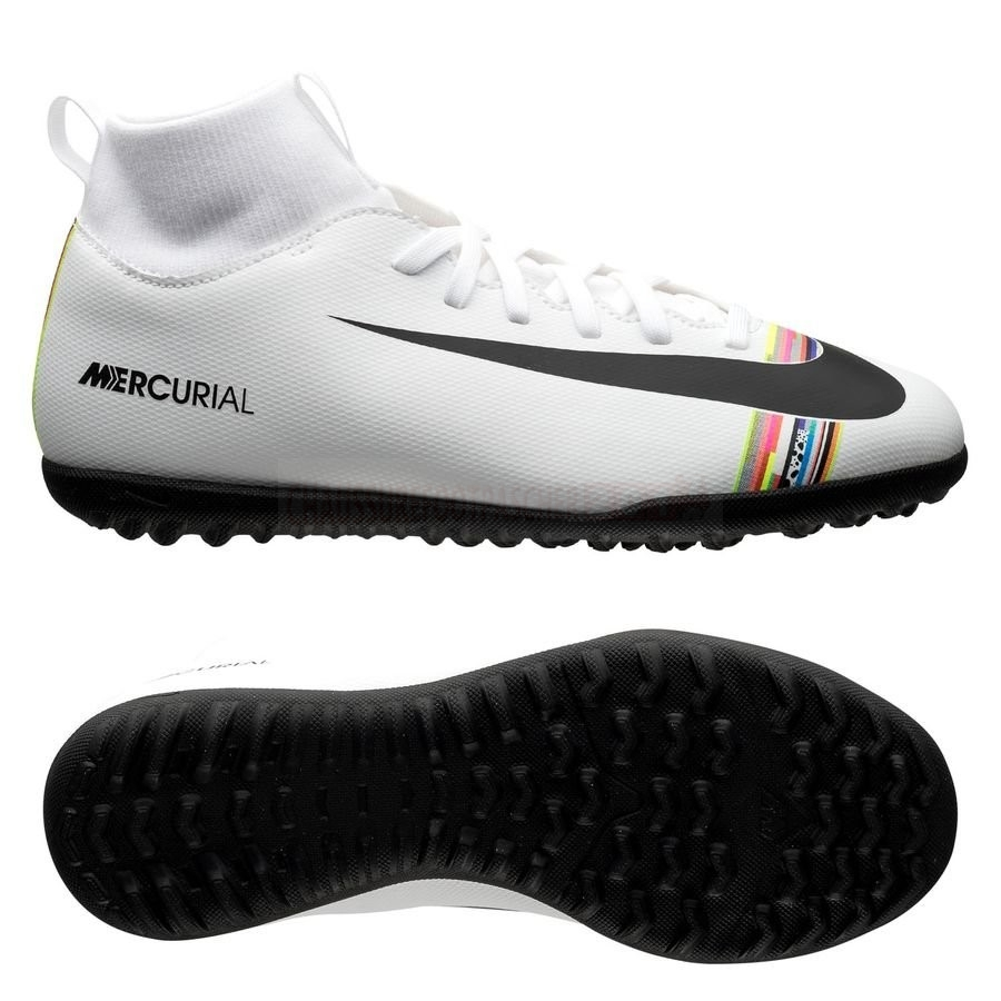 Nike Chaussure De Foot Mercurial Superfly 6 Club TF Blanc