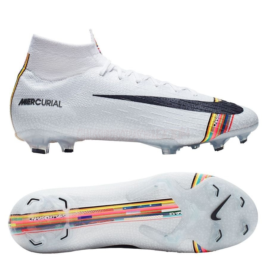 Nike Chaussure De Foot Mercurial Superfly 6 Elite FG LVL UP Blanc