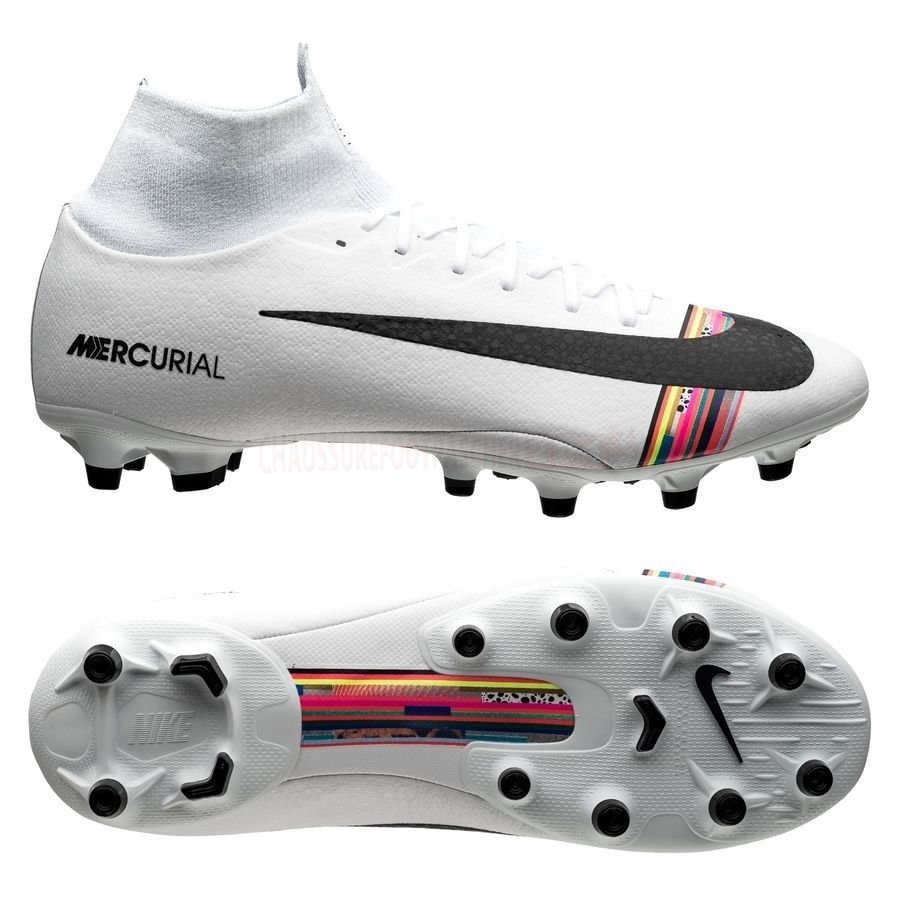 Nike Chaussure De Foot Mercurial Superfly 6 Pro AG PRO LVL UP Blanc