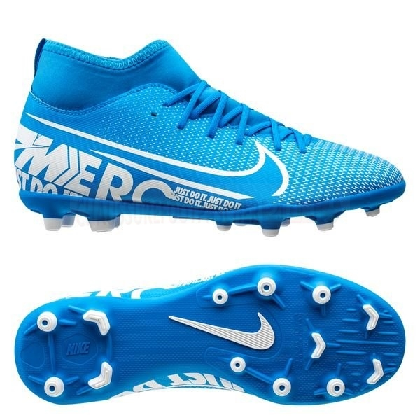 Nike Chaussure De Foot Mercurial Superfly 7 Club MG Bleu