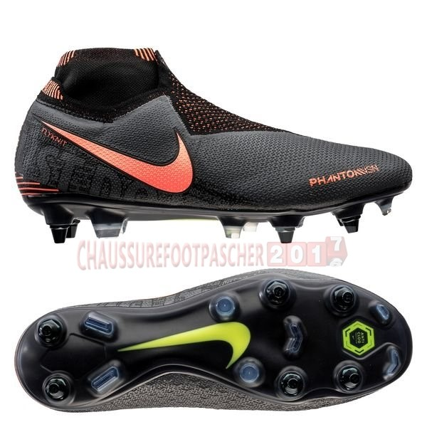 Nike Chaussure De Foot Phantom Vision Elite DF SG PRO Anti Clog Fire Noir