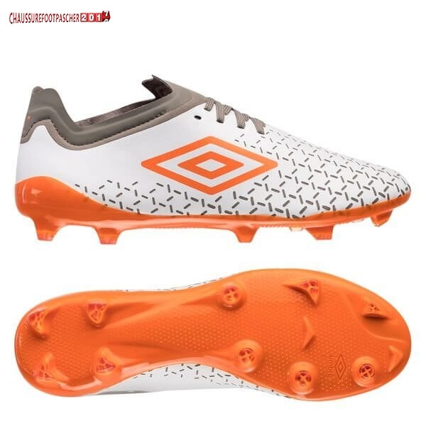 Umbro Chaussure De Foot Velocita V Pro FG Blanc Orange Gris