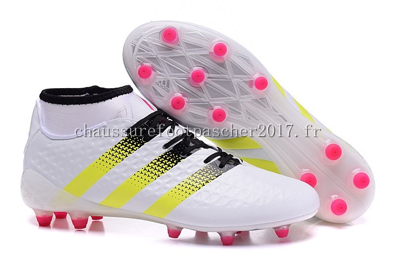 Adidas Chaussure De Foot Ace 16.1 FG AG Blanc Rouge
