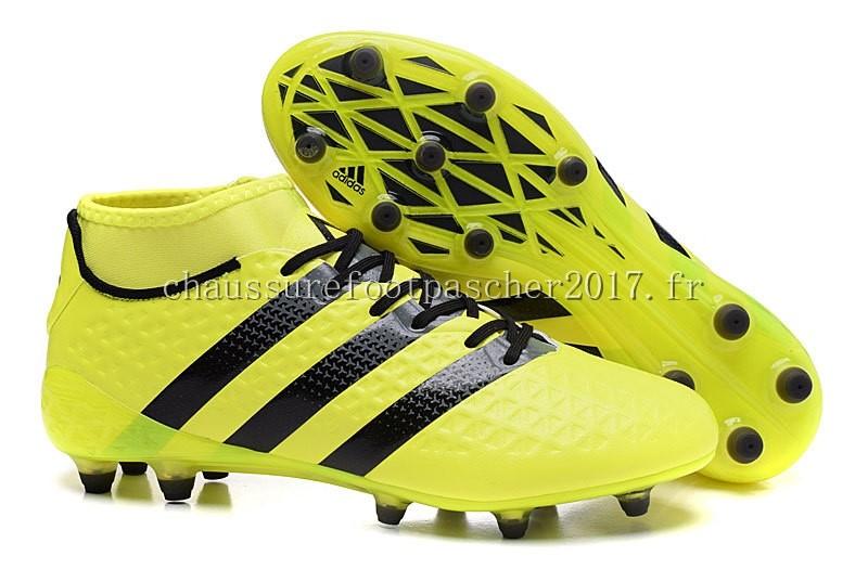 the latest 5bd2e fbb42 Adidas Chaussure De Foot Ace 16.1 FG AG Vert Fluorescent Noir