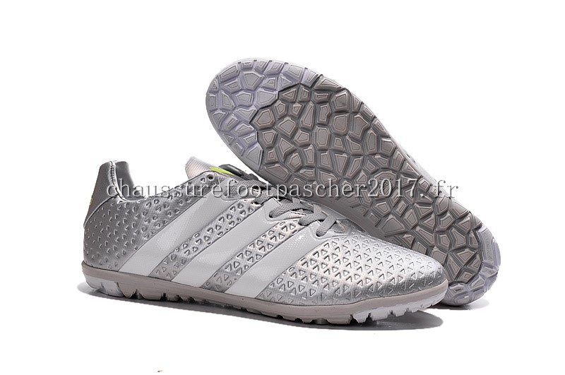 Adidas Chaussure De Foot Ace 16.1 TF Gris Blanc