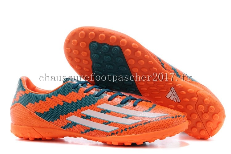 Adidas Chaussure De Foot Messi F50 TF Orange Bleu Rouge