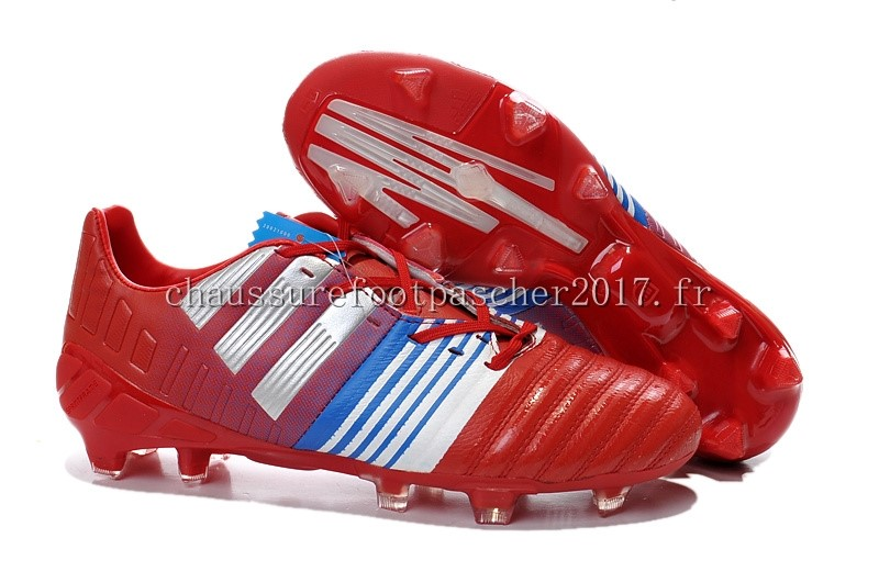 Adidas Chaussure De Foot Nitrocharge 3.0 FG Rouge Blanc