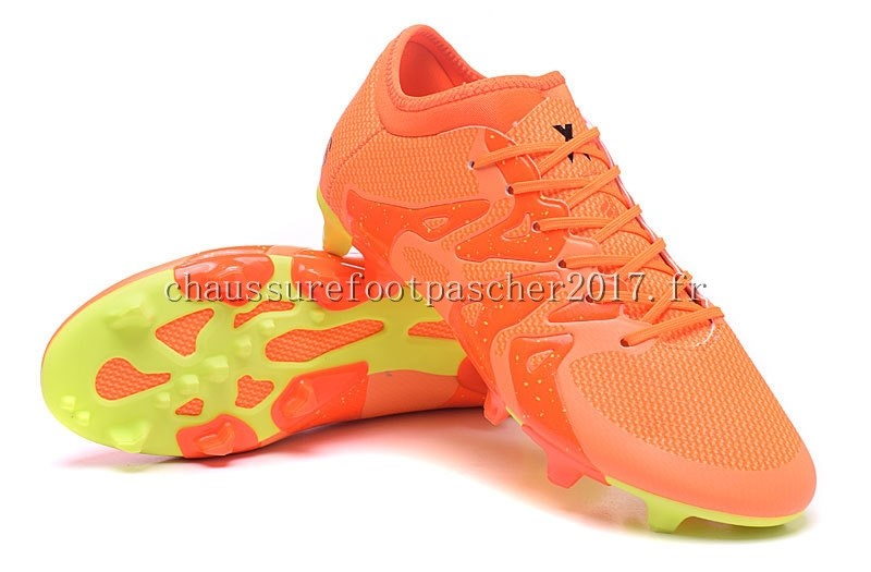 arrives 13aaa e3f00 ... Adidas Chaussure De Foot X 15.1 AG FG Orange Vert Fluorescent ...