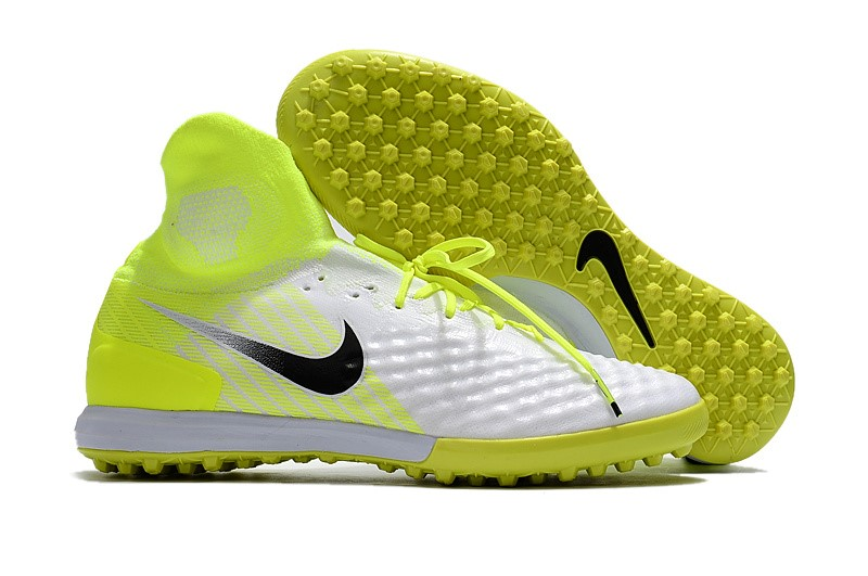Nike Chaussure De Foot MagistaX Proximo II TF Blanc Fluorescent Jaune