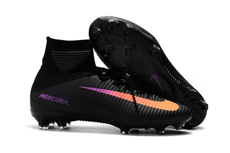 Nike Chaussure De Foot Mercurial Superfly V FG Noir Orange