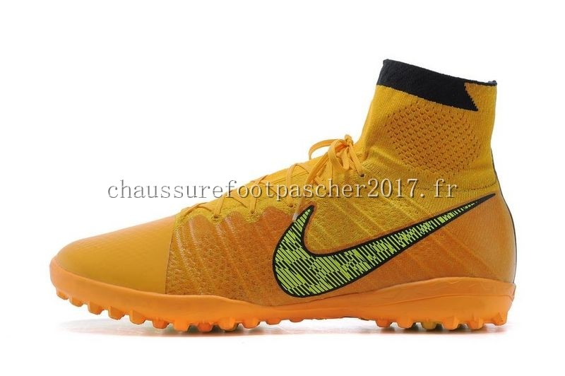 Nike Chaussure De Foot Elastico Superfly TF Noir Jaune