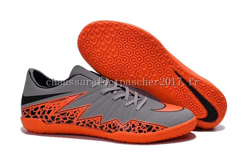 Nike Chaussure De Foot HyperVenom II INIC Gris Orange