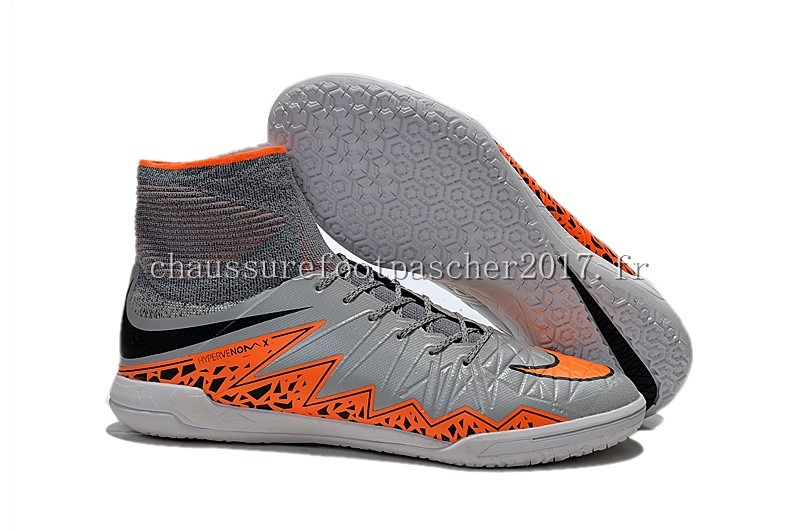 Nike Chaussure De Foot HyperVenomX Proximo TF Orange Gris Orange