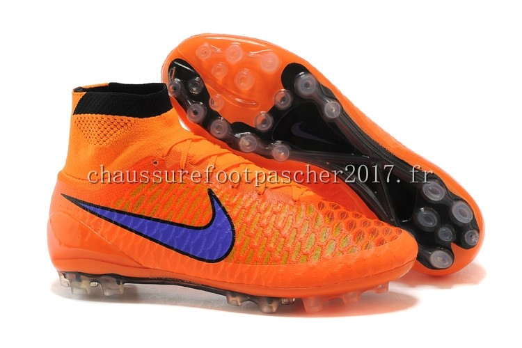 Nike Chaussure De Foot Magista Obra AG Orange Bleu