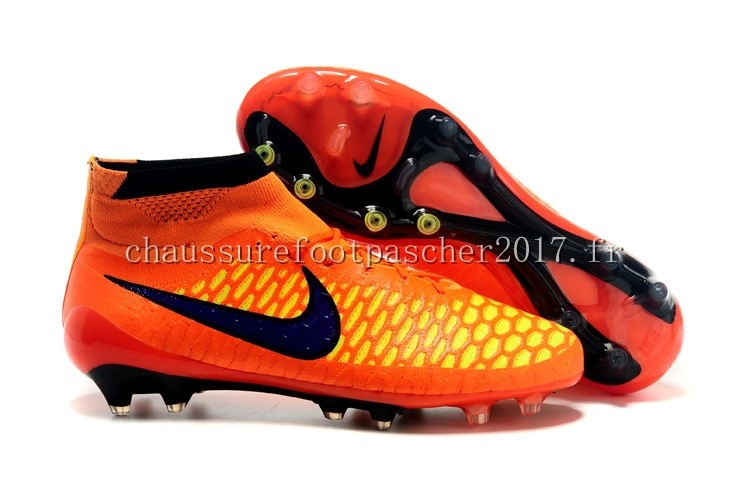 Nike Chaussure De Foot Magista Obra FG Orange Noir