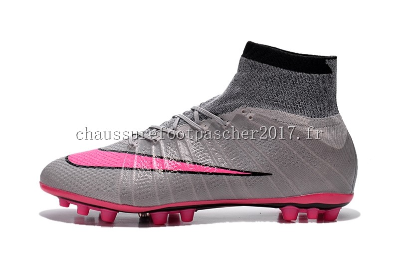 Nike Chaussure De Foot Mercurial Superfly AG Gris Rose