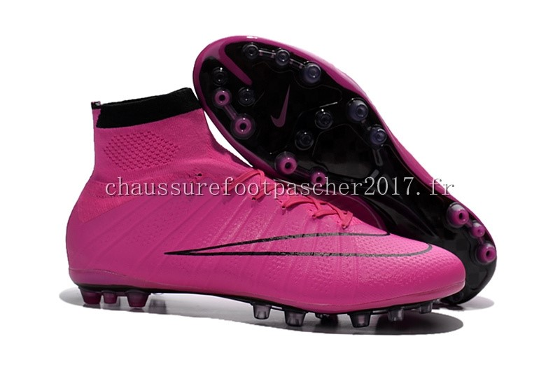 Nike Chaussure De Foot Mercurial Superfly AG Noir Cramoisi