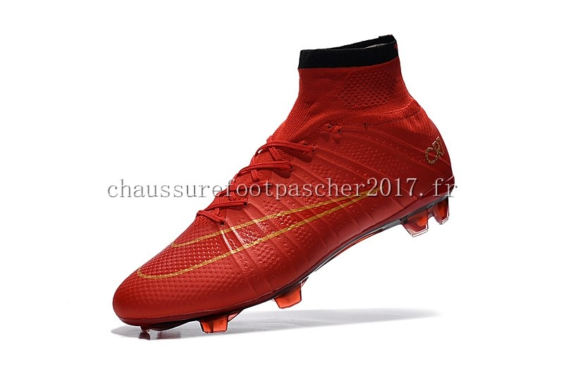 Nike Chaussure De Foot Mercurial Superfly CR7 Enfants FG Cramoisi