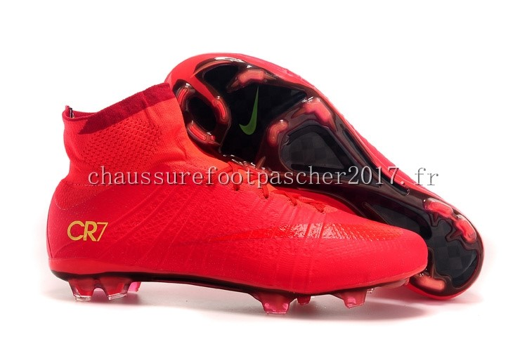 Nike Chaussure De Foot Mercurial Superfly CR7 FG Rouge